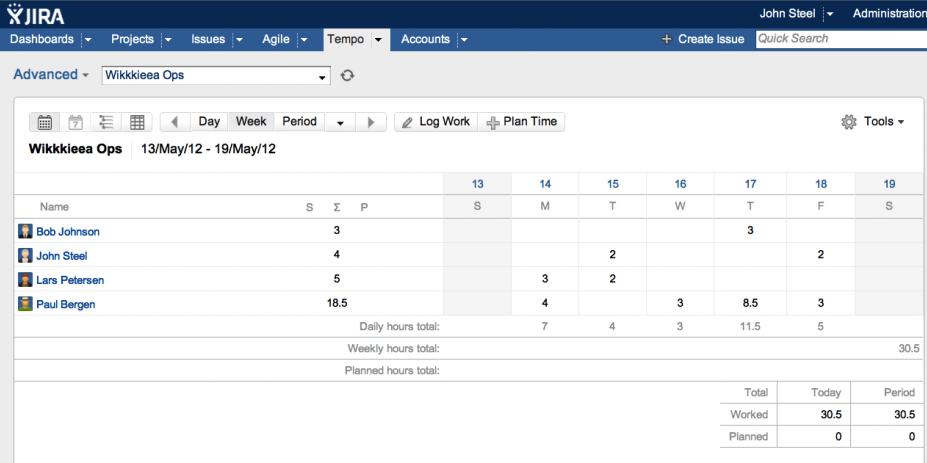 Kanban screenshot customer timesheet and advanced timesheet and reports