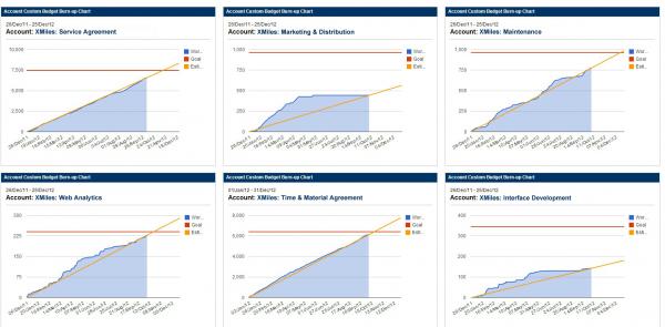 Account Custom Burn-up Chart TM Software