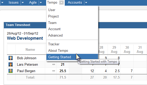 New Tempo Getting Started Feature