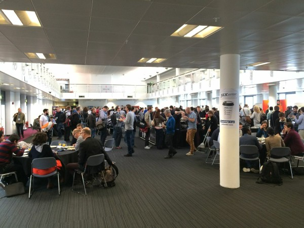 JAX London attendees gathered in exhibition area