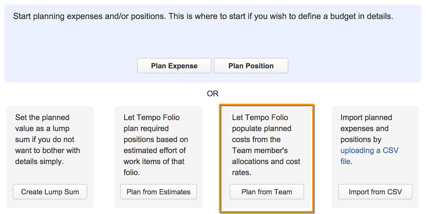 Tempo Folio Plan From A Team