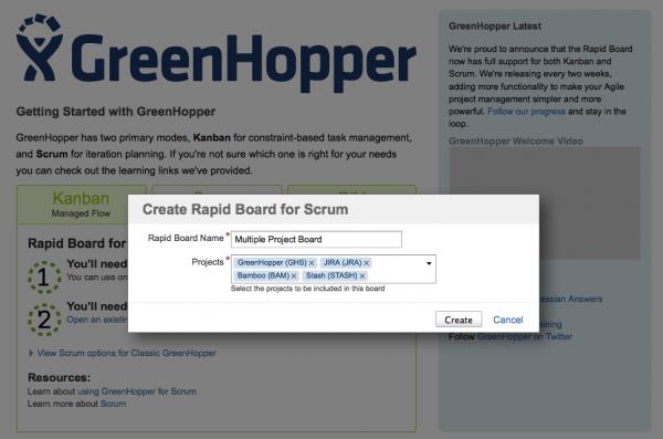 GreenHopper Rapid Boards for Scrum