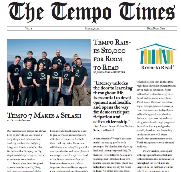 The Tempo Times Volume 2 screenshot