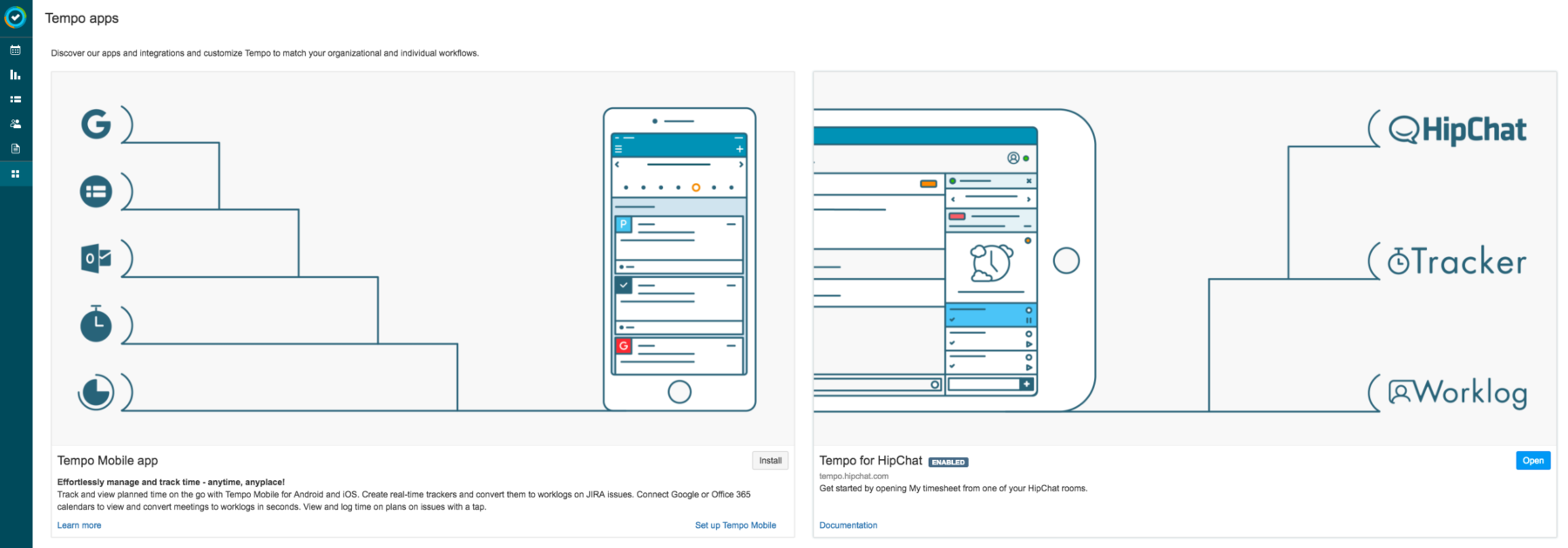 Tempo Apps Page