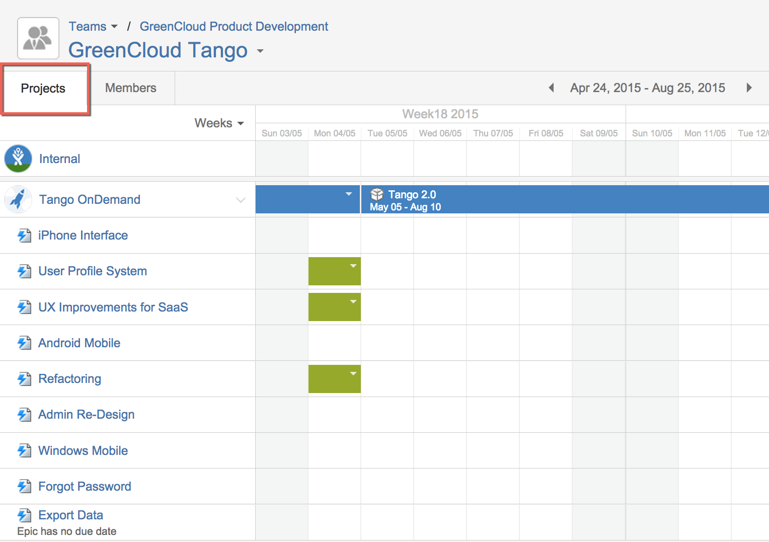 Teams Project Timeline for Tempo Planner 3.0 for Atlassian's JIRA