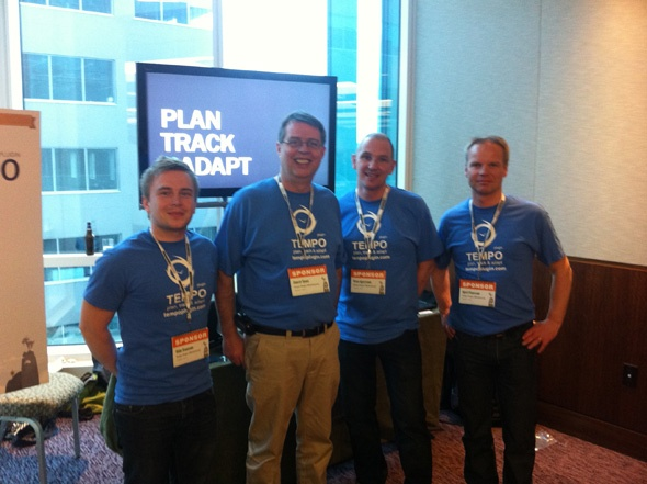 Atlassian Summit 2011 - A part of the Tempo team at the Tempo booth