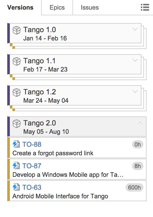 Plan Item Sidebar on TEmpo Planner 3.0 Team Members Timeline for JIRA
