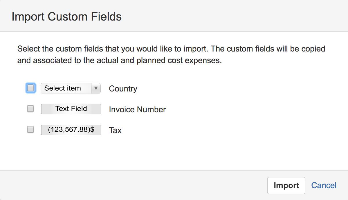 import custom fields screenshot