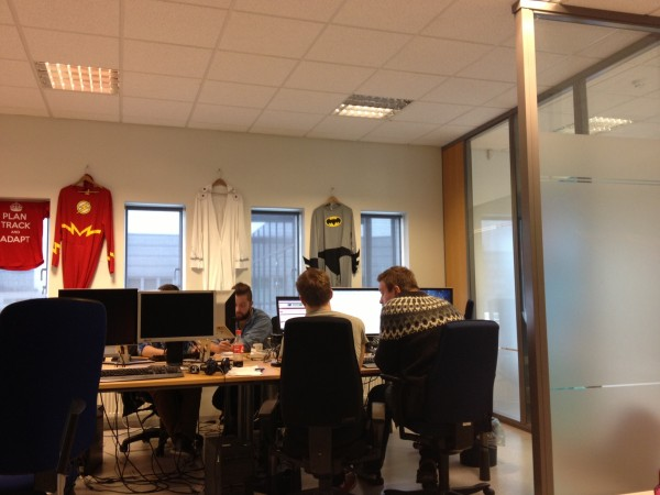 Tempo team collaborating, creating