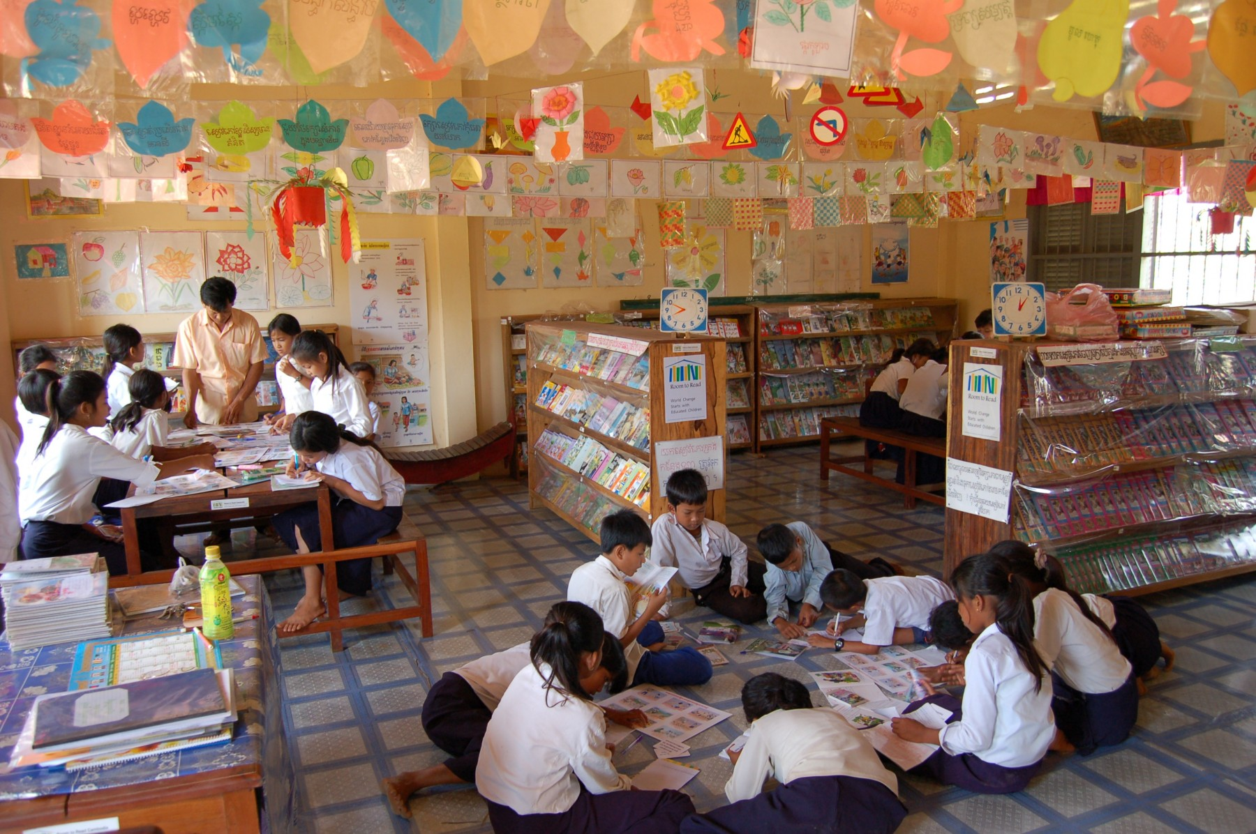 Room to Read library, Kampon Chhnang, Cambodia