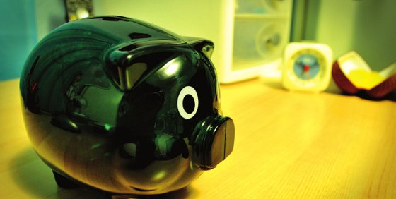 A piggy bank full of money from the savings made with Tempo