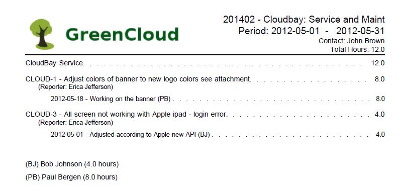 Tempo PDF Report Example