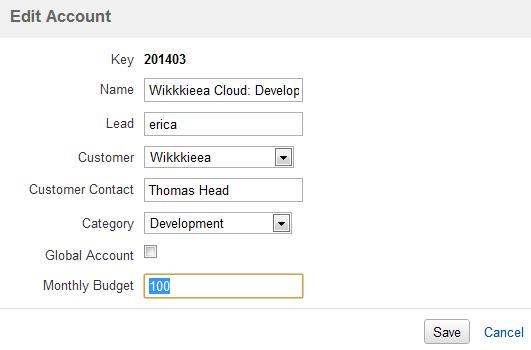 Tempo User Budget Account Edited